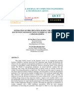 Estimation of Precipitation During the Period of South West Monsoon