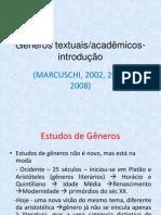 Gêneros textuais - Curso de especialização Aula 1