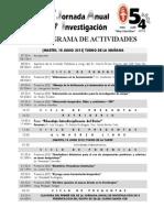 Cronograma Jornada Cur 2013