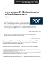 Narcotic Drugs, 50 Years on the Single Convention On