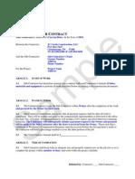 Sub Agreement-Template Sample No Progress Draws _3
