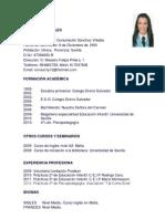 Currículum cronológico PDF