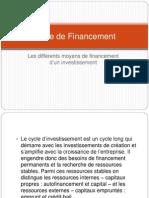 Mode de Financement
