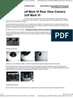 Installing a Golf Mark VI Rear View Camera (RVC) Into a Golf Mark VI _ My-gti