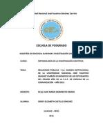 PROYECTO DE INVESTIGACIÓN CIENTÍFICA - SENDY