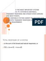 Stability is the Most Important System Specification