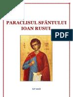 PARACLISUL SFÂNTULUI IOAN RUSUL
