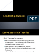 Theories of Leadership Lec 2