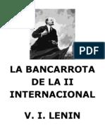 La Bancarrota de La II Internacional