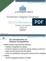Microeconomics-Perfect Competition