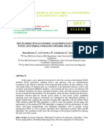 Multi Objective Economic Load Dispatch Using Hybrid Fuzzy, Bacterial