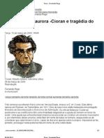 Fernando Rego Sobre Cioran