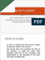 8. Claim Settlement