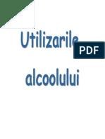 Utilizarile alcoolului