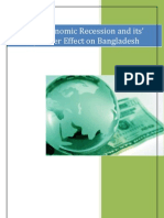 USA Economic Recession and its' Spillover Effect on Bangladesh
