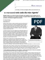 """(Página_12 __ El mundo __ """"El marxismo está cada día más vigente"""")"""