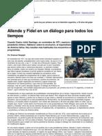 (Página_12 __ El país __ Allende y Fidel en un diálogo para todos los tiempos)