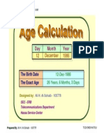 Age Calculation