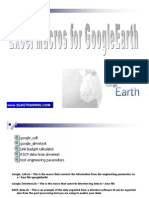 Macros for Google Earth