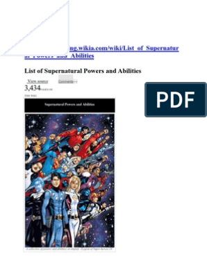 List Of Supernatural Powers And Abilities Mimicry Extrasensory Perception The superpower wiki is a very useful place if you're trying to remember what a certain ability is called or if you're trying to find every hero and villain who manipulates ice. supernatural powers and abilities