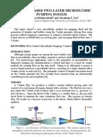 VENTURI-BASED TWO-LAYER MICROFLUIDIC PUMPING SYSTEM