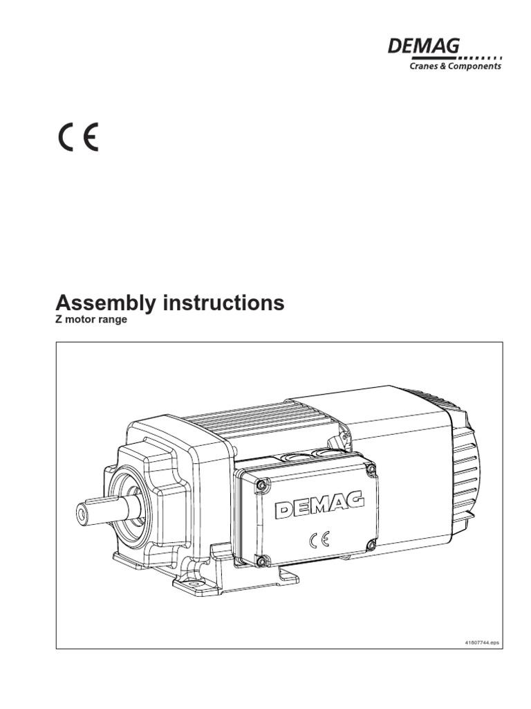 [ZSVE_7041]  Ensamblaje Motor z Demag | Screw | Power Inverter | Demag Motor Wiring Diagrams |  | Scribd
