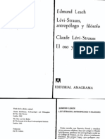 Leach E R Levi Strauss C 1970 Levi Strauss Antropologo y Filosofo El Oso y El Barbero Barcelona Anagrama