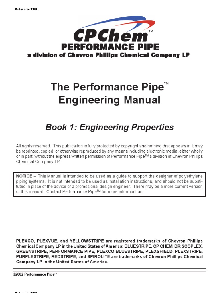 The Performance Pipe Engineering Manual | Polyethylene