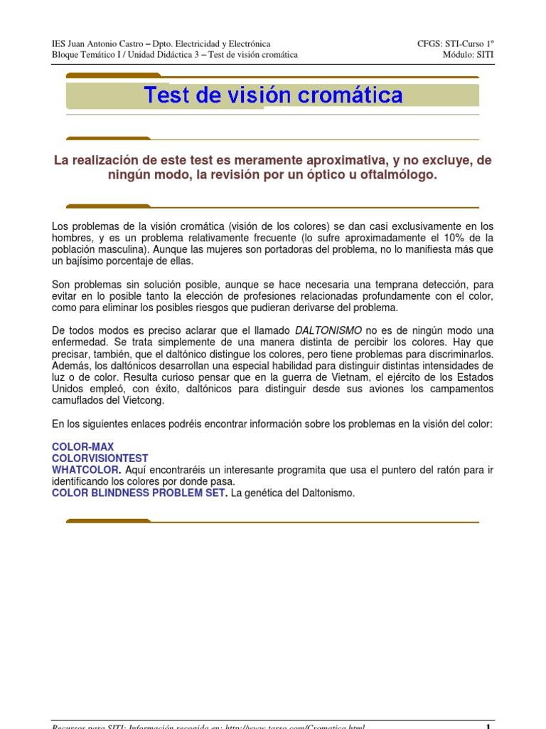 Test de visión cromática-2012-13.pdf | Color | Percepción ...