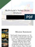 McDonalds Value Chain Analysis