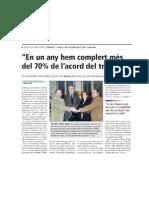 Primer any del pacte IUSF-CiU-ERC
