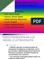 Espectroscopia UV Visivel