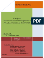 Industry Analytics - Indian Pharmaceutical Industry