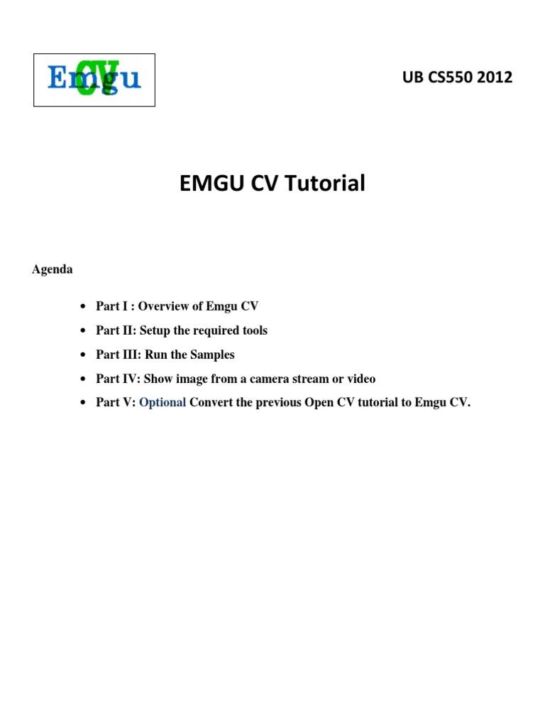 Emgu CV Tutorial Skander | Microsoft Windows | Microsoft