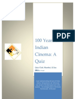 A Quiz on 100 Years of Indian Cinema
