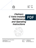 Clarkson C-Valve Iom Manual