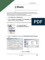 PM 17 Setup Sheets