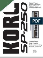 Korg SP-250, User's Manual (EU)