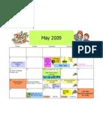 May 2009 Monday Tuesday Wednesday Thursday 1 Friday PA