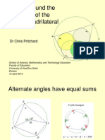 A tour around the geometry of a cyclic quadrilateral