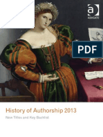 History of Authorship 2013
