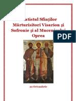 Acatistul Sfinților Mărturisitori Visarion și Sofronie și al Mucenicului Oprea
