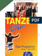 Tanzschule TenDance Programm Jan. - April