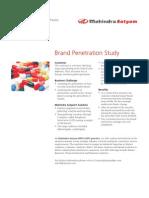 Mahindra Satyam BPO KPO Brand Penetration Study