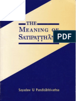 The Meaning of Satipatthana