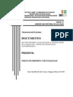 Pedagogia Institucional Humberto