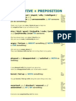 ADJECTIVE and Prepositions