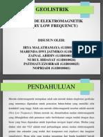 Geolistrik n ElektroMagnetik  metode VLF