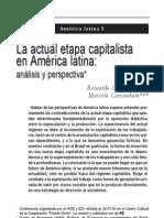la actual etapa capitalista en América latina Reinaldo Carcanholo