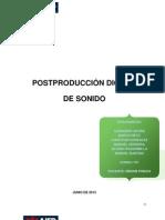 POSTPRODUCCIÓN DIGITAL DE SONIDO